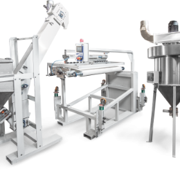GRIT LAYING MACHINE AND ASPIRATOR FOR GRITS